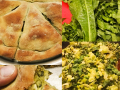 Viraggas-pies-with-a-variety-of-greens